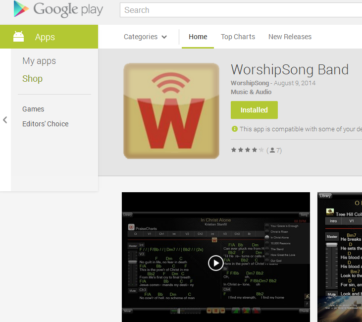 WorshipSong Band Version 2.3 Released
